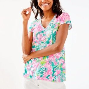 NWT Lilly Pulitzer Hot On The Scene Etta Top MD